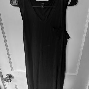 Black short j crew sleeveless dress